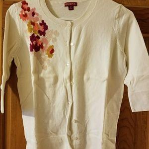 Merona short sleeve cardigan - size M